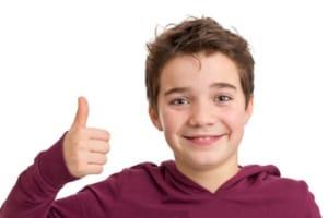 Glad sensitiv dreng med styr på følelseslivet
