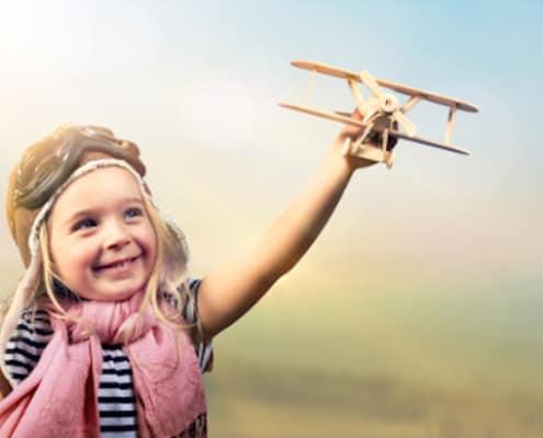 sensitiv pige styrer fly ansvarligt